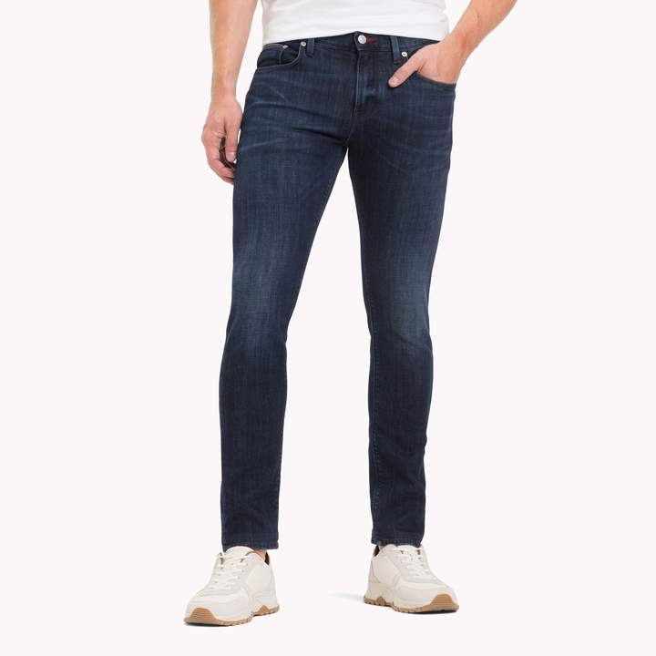 b270cb38a Tommy Hilfiger Black Men's Slim Jeans - ShopStyle