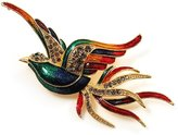 Avalaya Exotic Multicoloured Flying Fire-Bird Brooch
