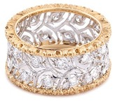 Buccellati 'Ramage Eternelle' diamond 18k gold cutout vine ring