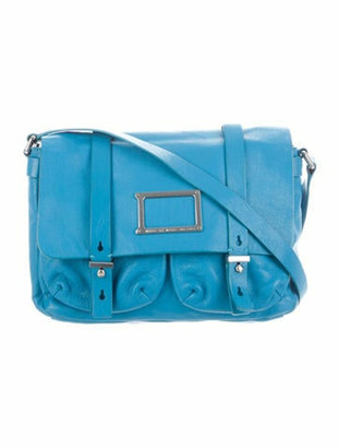 Marc by Marc Jacobs Leather Messenger Bag Blue