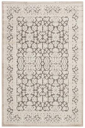 "Jaipur Living Regal Damask Gray/White Area Rug, 5'x7'6"""
