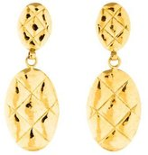 Chanel Quilted Drop Earrings