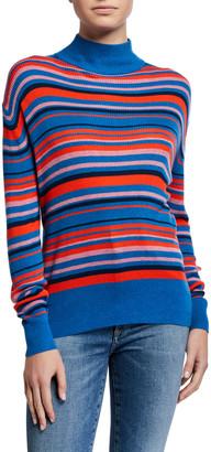 Kule The Marlene Striped Turtleneck Sweater