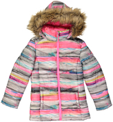 Weatherproof Pink & White Faux Fur-Trim Puffer Coat - Girls
