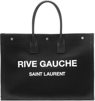 Saint Laurent Rive Gauche canvas tote