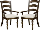 Asstd National Brand Tucker Hill Set of 2 Ladder-Back Arm Chairs