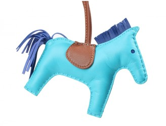 Hermes Rodeo Blue Leather Bag charms