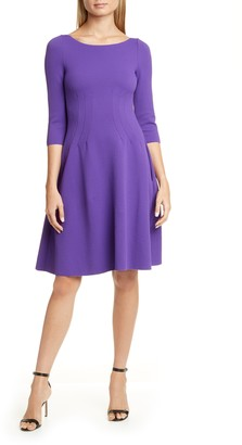 Emporio Armani Jersey Wave Fit & Flare Dress