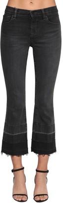 J Brand Selena Mid Rise Cropped Denim Jeans