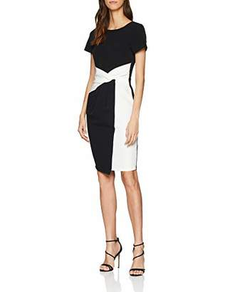 Paper Dolls Women's Twisted Wasit Bodycon Pencil Short Sleeve Dress,(Manufacturer Size:)