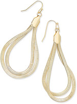 Thalia Sodi Gold-Tone Flat Chain Two-Loop Drop Earrings, Only at Macy's