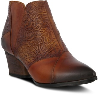 Spring Step L'Artiste Low Pointed Toe Leather Booties - Melodie