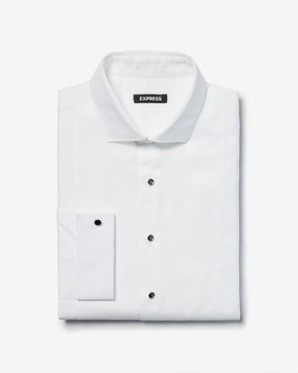 Express Extra Slim Half Bib Tuxedo Dress Shirt