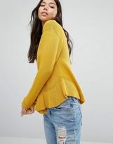 Boohoo Ruffle Hem Sweater