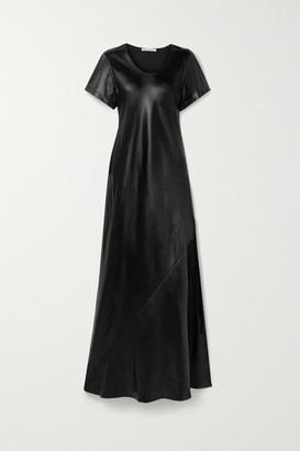 Alexander Wang Coated Twill Maxi Dress - Black