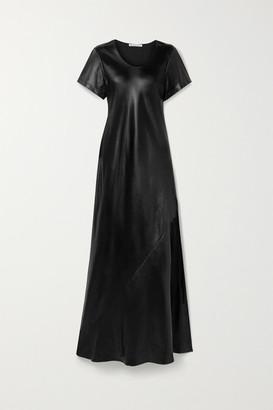 Alexander Wang Coated Twill Maxi Dress