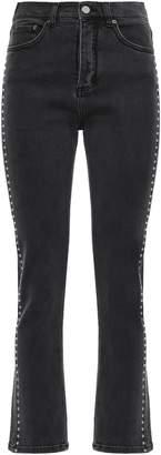 Victoria Victoria Beckham Victoria, Victoria Beckham Studded High-rise Straight-leg Pants