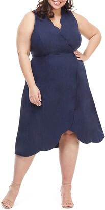Maggy London Rochelle Linen Blend Midi Dress