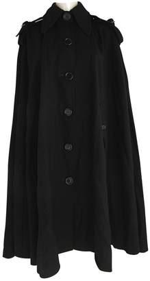 Hanae Mori Black Wool Coat for Women Vintage