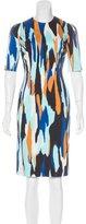 Jonathan Saunders Abstract Print Sheath Dress