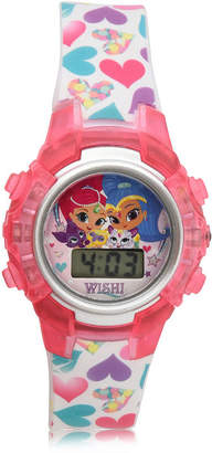 SHIMMER AND SHINE Shimmer And Shine Girls Digital White Strap Watch-Sns4080jc