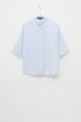 French Connection Etta Cupro 3/4 Sleeve Shirt