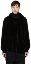Song For The Mute Black Velour Hoodie