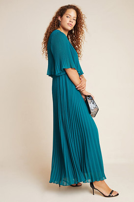 Corey Lynn Calter Pleated Maxi Dress By in Green Size XS