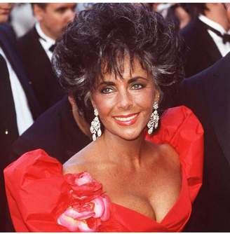 Kenneth Jay Lane Elizabeth Taylor In The Antique Silver And Crystal Drop Clip Earrings