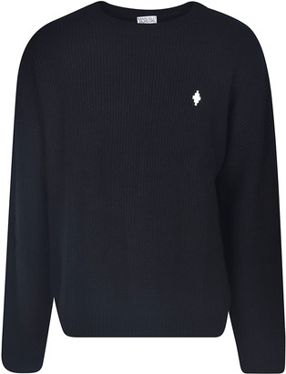 Marcelo Burlon County of Milan Mcbm Wool Regular Crewneck Jumper
