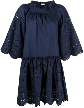P.A.R.O.S.H. Floral-Detail Shift Dress