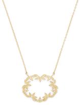 Mizuki 14K Yellow Gold & 0.08 Total Ct. Diamond Medium Open Petal Necklace