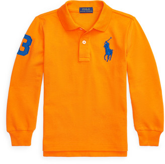 Ralph Lauren Big Pony Mesh Long-Sleeve Polo