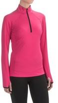 SnowAngel Snow Angel Veluxe Color Splash Base Layer Top - Zip Neck, Long Sleeve (For Women)
