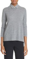 Kate Spade Women's Collared Relaxed Wool Sweater