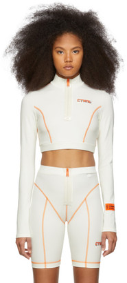 Heron Preston Off-White Cropped Style Active Turtleneck