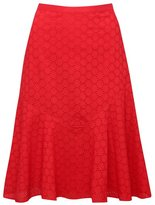 M&Co Petite schiffli skirt