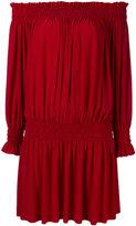Norma Kamali Peasant dress - women - Polyester/Spandex/Elastane - S