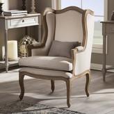 Baxton Studio Oreille Wingback Arm Chair