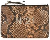 No.21 snakeskin effect clutch