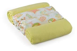 Junior Joy Swaddle Flannel Blankets (Pack of 4, Cream)