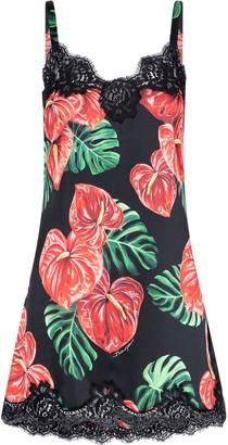 Dolce & Gabbana Floral Lace-Trim Camisole Dress