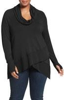 Melissa McCarthy Plus Size Women's Tiered Hem Top