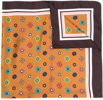 Altea Geometric-Pattern Silk Scarf