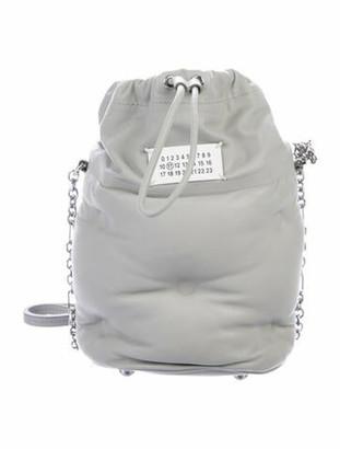 Maison Margiela Glam Slam Leather Bucket Bag Grey