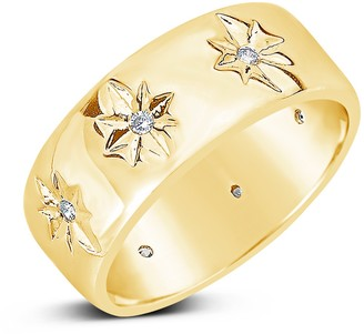 Sterling Forever Cubic Zirconia Starburst Band Ring