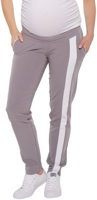 Stowaway Collection Maternity Drawstring Racing Strip Pant