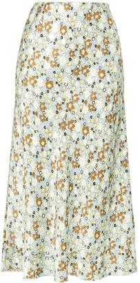 Lee Mathews Bella floral-print silk skirt