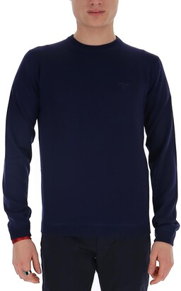 Prada Logo Stitch Detail Sweater