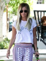 Rebel Yell Rebell Yell Trouble Crop Tee In VIntage Pink As Seen On Ashley Tisdale